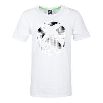 Microsoft Xbox dot logo T-shirt mannelijke XX-Large Wit (TS174250XBX-2XL)