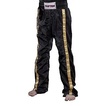 Top ten kids mesh kickboxing pants black/gold