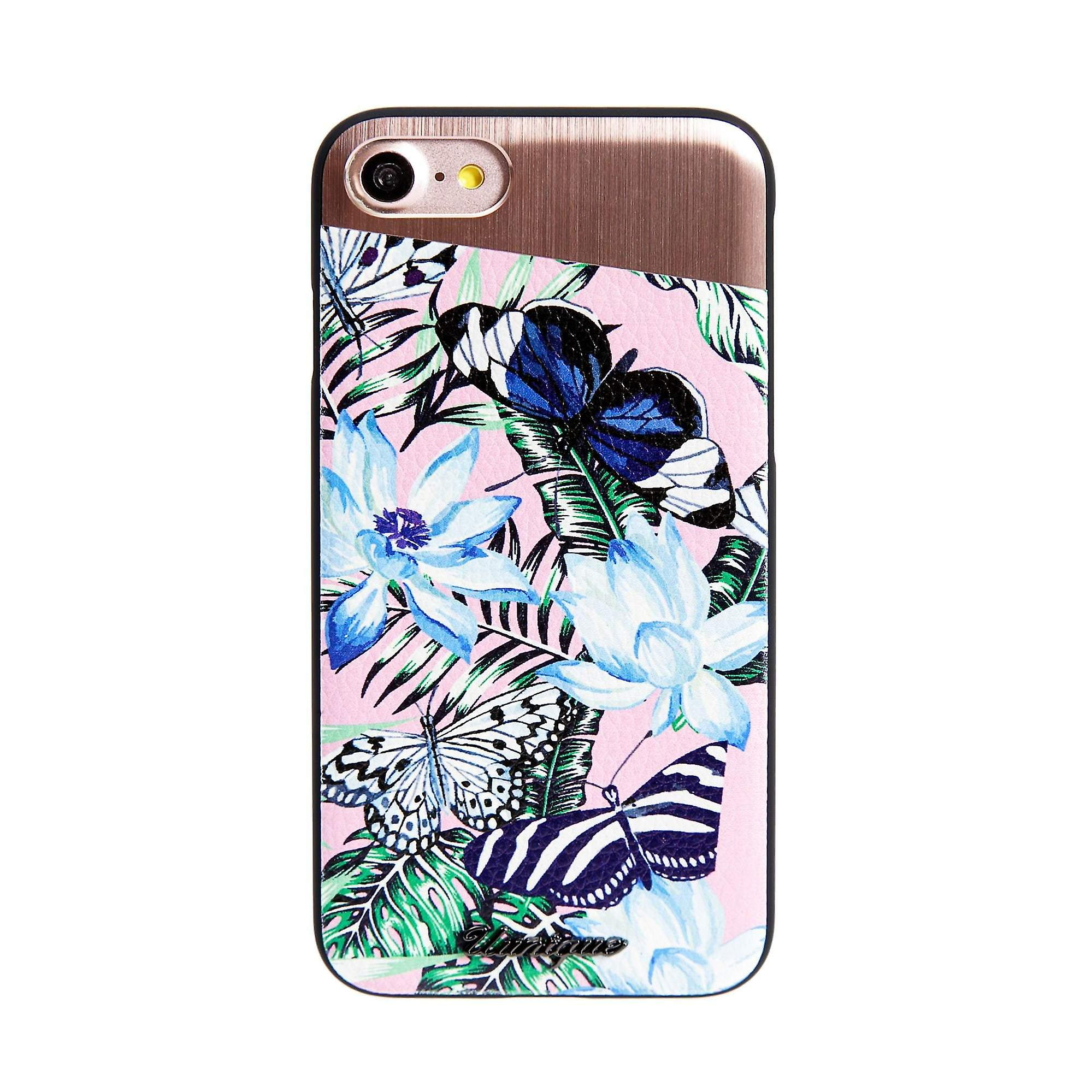 iPhone 8/7 Case Tropical Butterfly Hard Shell Pink