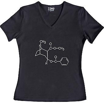 Cocaine V-Neck Black Women's T-Shirt