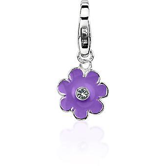 Charm Pierre Lannier JC99A178 - Charm Pendentif Fleur Violet Femme