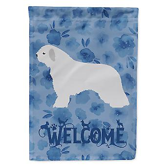 Carolines Treasures  CK6142GF Spanish Water Dog Welcome Flag Garden Size