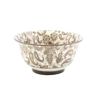 Lesser & Pavey Ceramic Oriental Rice Bowls - Brown