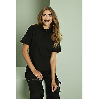 UNEEK Uneek Womens Polo Shirt, Black