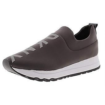 DKNY Womens Jadyn Logo Athletic Fashion Sneakers Taupe 11 Medium (B, M)