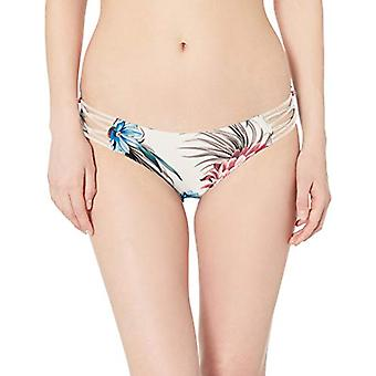 Splendid Women's High Leg Swimsuit Bikini Bottom, Off, MultiColor, Size Large
