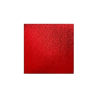 """Culpitt 10"""" (254mm) Cake Board Square Red Pack Of 5"""