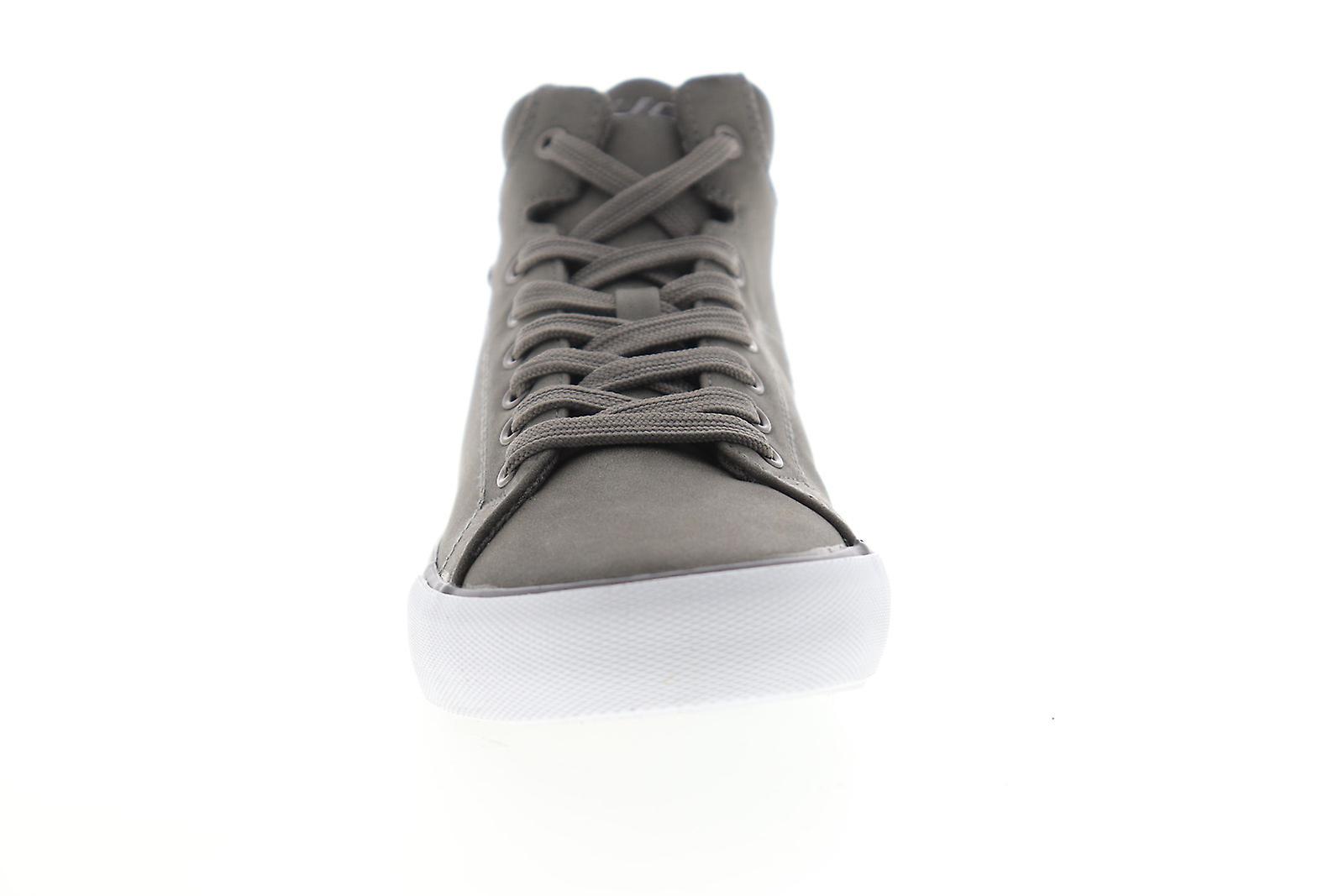 Lugz King LX Mens Gray Suede Lace Up High Top Sneakers Schoenen - Gratis verzending fGJciO