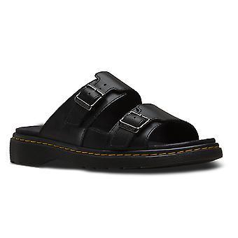 Unisex volwassenen Dr Martens Nikolai zwart Westfield Twin gesp sandalen