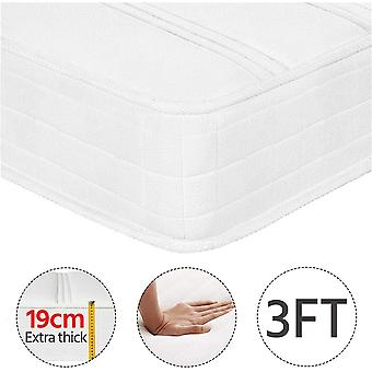 3FT Single Mattress Density Sponge 9 Layers 216 Bonnell Springs Mattress-Anti-mite Knitted Jacquard Cover 19CM Height