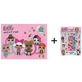 LOL Surprise Artist Pad Plus Sticker Fun Pack