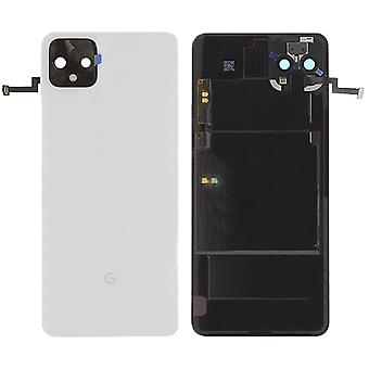 Google Battery Cover for Pixel 4 XL White Clear White Battery Cover Spare Part Backcover Lid Battery