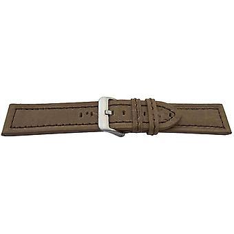 العجل suede ووتش حزام البني مخيط حجم 20mm، 22mm و 24mm مشبك غير القابل للصدأ