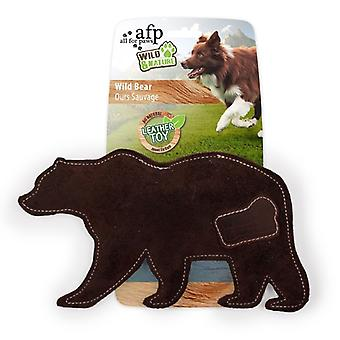 AFP Leather Toy Wild & Nature Bear (Dogs , Toys & Sport , Chew Toys)