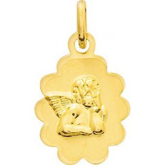 Medaille angelo pendente oro 750/1000 giallo (18K)
