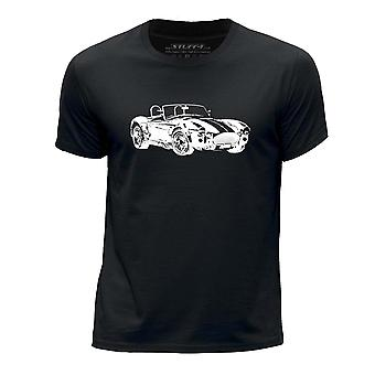 STUFF4 Boy's Round Neck T-Shirt/Stencil Car Art / AC Cobra/Black