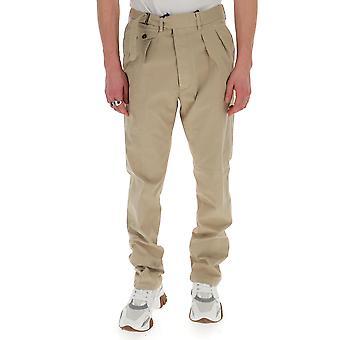 Lardini Eiluxor5ei54087200 Men's Beige Cotton Pants