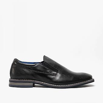 Bugatti 311-89660 Mens Leather Slip On Shoes Black