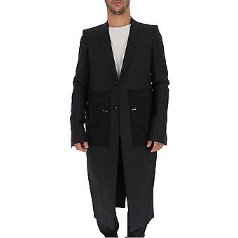 Rick Owens Rr19f4930wkrn09 Men's Black Wool Coat
