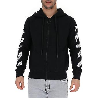Off-white Ombe001s20e300031088 Men's Black Cotton Sweatshirt