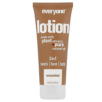 Everyone 3-in-1 lotion, unscented, 6 oz