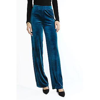 Full velvet trousers cut straight
