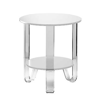 """18.5"""" X 18.5"""" X 21.5"""" White  Accent Table"""