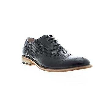 English Laundry Joseph  Mens Black Leather Dress Lace Up Oxfords Shoes