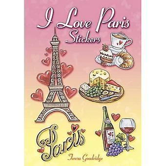 Jag älskar Paris klistermärken (Dover klistermärken)