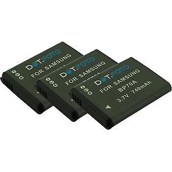 3 x Dot.Foto Samsung BP70A vervangende batterij - 3.7V / 740mAh