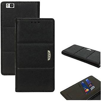 Perlecom Flip cover Huawei P9 Lite Black