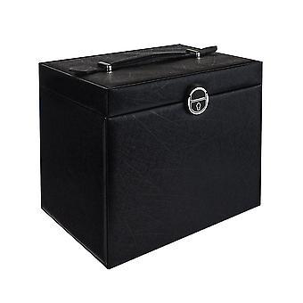 Abschließbare Schmuckbox 26 x 19 cm - Schwarz