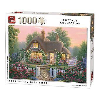 King Jigsaw Puzzle - Cottage Collection Rose Petal Shop, 1000 Piece