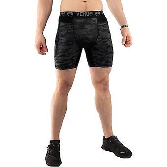 Venum Defender Oscuro Camo Compresión Shorts Negro/Gris