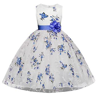 Child School Girl Floral Dress For Wedding Ceremony