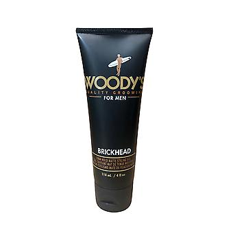 Woody's Quality Grooming for Men Brickhead Firm Hold Matte Styling Paste 4 OZ