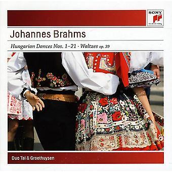 Tal & Groethuysen - Brahms: Hungarian Dances Nos. 1-21; Waltzes Op. 39 [CD] USA import
