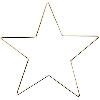 Yhden 30cm Gold Wire Star Vanne Macrame tai Seppele Making