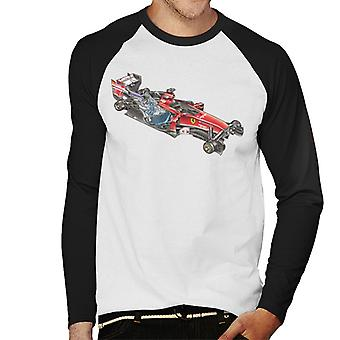 Motorsport Images Ferrari F14 T Deconstructed View Men's Baseball Long Sleeved T-Shirt