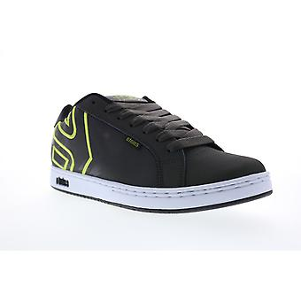 Etnies Metal Mulisha Fader Mens Gray Leather Low Top Skate Sneakers Shoes