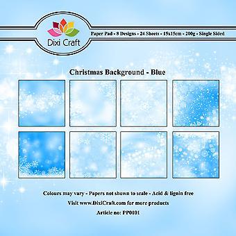 ديشي كرافت عيد الميلاد خلفية الأزرق 6x6 بوصة ورقة حزمة