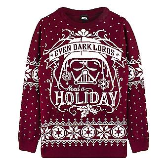 Star Wars Darth Vader Christmas Jumper Holiday's Knitted Red Unisex Sweater