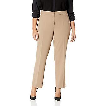 Lark & Ro Women's Plus Size Straight Leg Trouser Pant: Classic Fit, Modern Oak, 18W