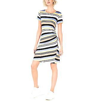 Bar III | Striped Drawstring-Side Dress