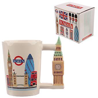 Sammlerstücke Big Ben geformt Griff Keramik Becher X 1 Pack