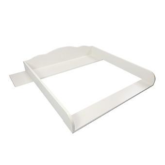 Puckdaddy wrap fastsättning Thore 108x80x15 cm trä inslagning pad i vitt för IKEA Hemnes byråar