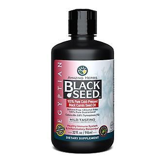 Amazing Herbs Egyptian Black Seed Oil, 32 oz
