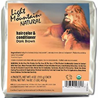 Light Mountain Natural Hair Color & Conditioner, Dark Brown 16 Oz