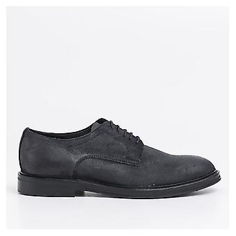 Greased Suede Derby