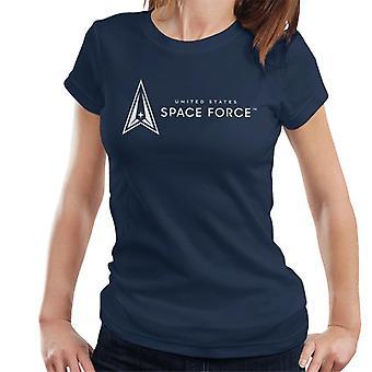 U.S. Space Force Light Text Alongside Logo Women's T-Shirt